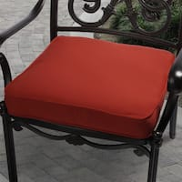 Red Indoor/ Outdoor Square Corded Chair Cushion