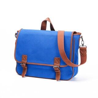 Something Strong Blue Canvas Tablet Messenger Bag
