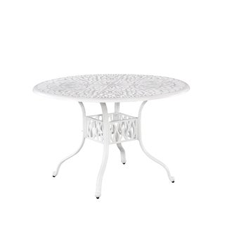Home Styles Floral Blossom II White 48-inch Patio Table