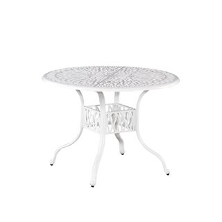 Home Styles Floral Blossom II White 42-inch Patio Table