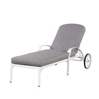 Floral Blossom II White Chaise Lounge Chair By Home Styles