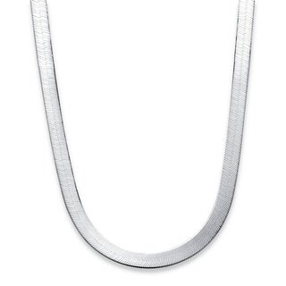 PalmBeach Sterling Silver Herringbone Chain Tailored