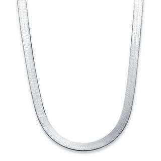 Sterling Silver Herringbone Chain Tailored|https://ak1.ostkcdn.com/images/products/10939955/P17967958.jpg?impolicy=medium