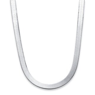 Sterling Silver Herringbone Chain Tailored
