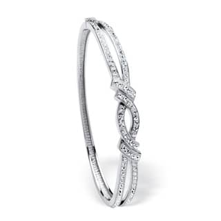 Pave Crystal Bangle Bracelet Color Fun|https://ak1.ostkcdn.com/images/products/10939983/P17967964.jpg?impolicy=medium