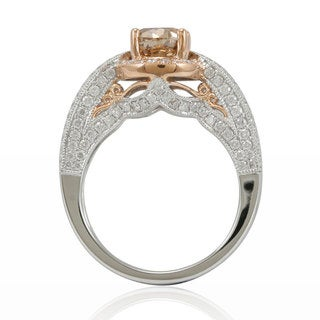 Suzy Levian 14K Two-tone Gold and Brown Diamond Ring