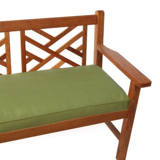 Hunter Green Indoor/ Outdoor Corded Bench Cushion