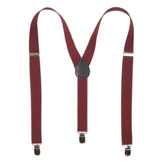 Vance Co. Men's Solid Adjustable Suspenders