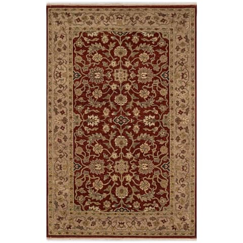 Safavieh One of a Kind Collection Hand-Knotted Indo Kerman Wool Rug (5' x 8') - Multi - 5' x 8'
