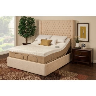 Sleep Zone Newport 10-inch Twin XL-size Memory Foam Mattress Adjustable Set