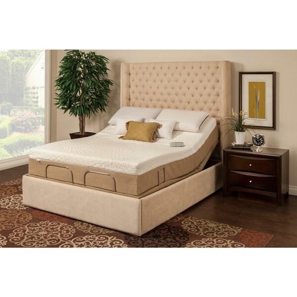 shop sleep zone newport 10 inch twin xl size memory foam mattress adjustable set free shipping. Black Bedroom Furniture Sets. Home Design Ideas