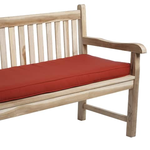 Red Indoor/ Outdoor Corded Bench Cushion