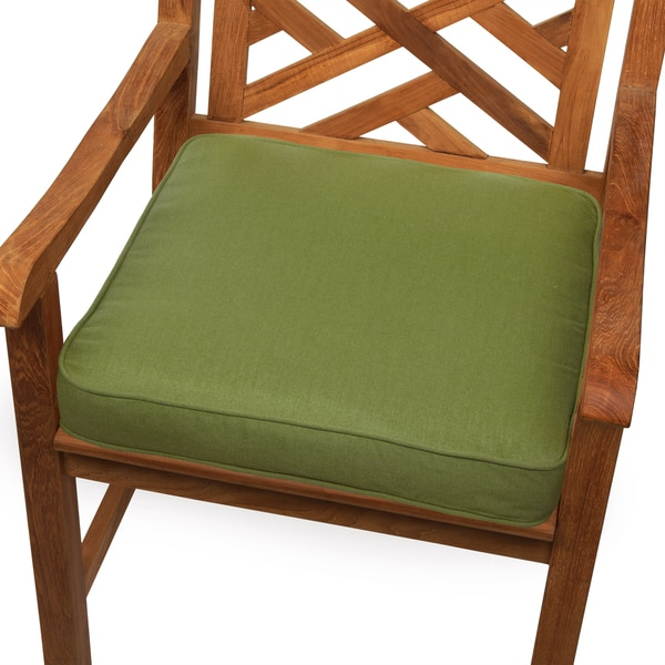 hunter green indoor outdoor square corded chair cushion free