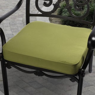 Citrus Green Indoor/ Outdoor Square Corded Chair Cushion