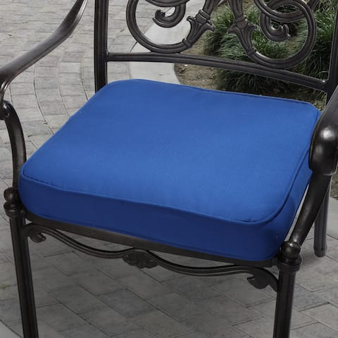 Cobalt Blue Indoor/ Outdoor Square Corded Chair Cushion