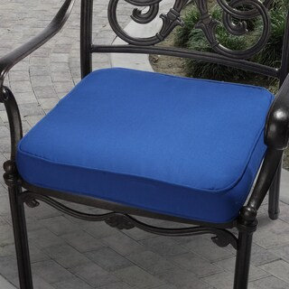Cobalt Blue Indoor/ Outdoor Square Corded Chair Cushion (2 options available)