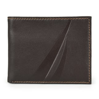 Nautica Men's Genuine Leather Billfold Wallet
