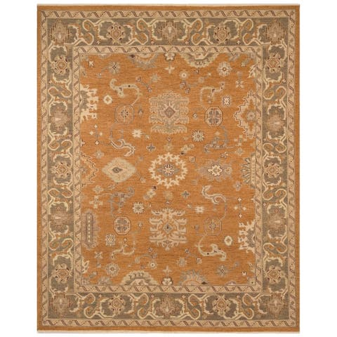 Safavieh One of a Kind Collection Hand-Knotted Oushak Bronze Wool Rug (8'2 x 10') - 8' x 10'