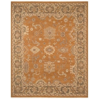 Safavieh One of a Kind Collection Hand-Knotted Oushak Bronze Wool Rug (8'2 x 10')