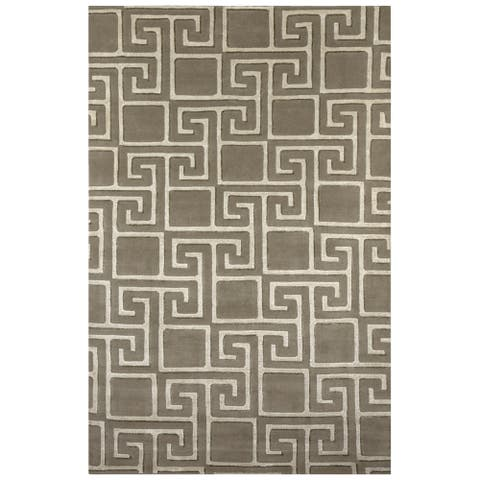 Safavieh One of a Kind Collection Hand-Knotted Tibetan Grey/ Silver Wool Rug (6' x 9') - Multi - 6' x 9'