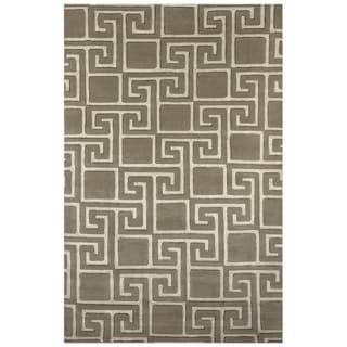 Safavieh One of a Kind Collection Hand-Knotted Tibetan Grey/ Silver Wool Rug (6' x 9')