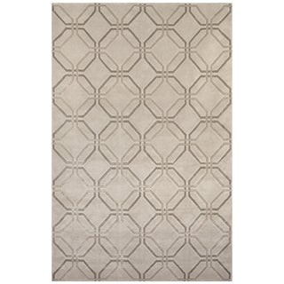 Safavieh One of a Kind Collection Hand-Knotted Tibetan Silver Wool Rug (6' x 9') - 6' x 9'