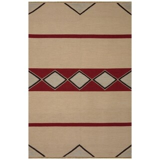 Safavieh One of a Kind Collection Hand-Knotted Tibetan Black/ Red Wool Rug (6' x 9')