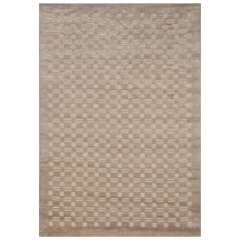 Safavieh One of a Kind Collection Hand-Knotted Tibetan Natural Wool Rug (5' x 7') - 5' x 7'