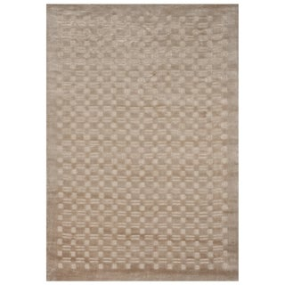 Safavieh One of a Kind Collection Hand-Knotted Tibetan Natural Wool Rug (5' x 7')