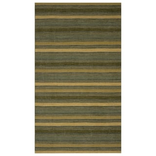 Safavieh One of a Kind Collection Hand-Knotted Heirloom Green/ Multi Wool Rug (5' x 8')