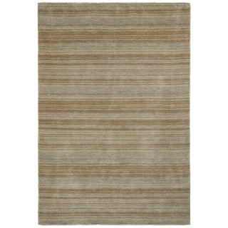 Safavieh One of a Kind Collection Hand-Knotted Tibetan Silver/ Multi Wool Rug (6' x 9')