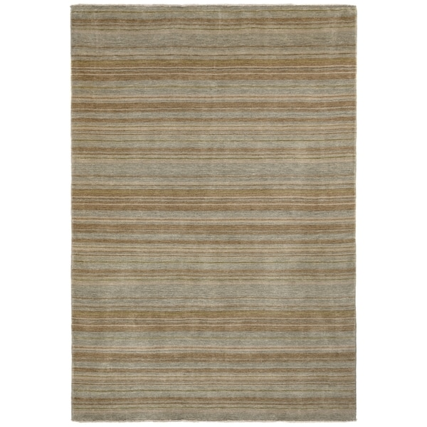 Safavieh One of a Kind Collection Hand-Knotted Tibetan Silver/ Multi Wool Rug (6' x 9') - 6' x 9'