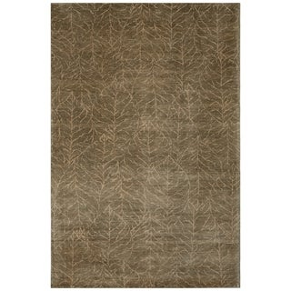 Safavieh One of a Kind Collection Hand-Knotted Tibetan Olive Wool Rug (6' x 9')