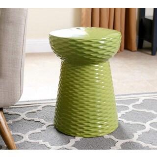 ABBYSON LIVING Madison Lime Green Ceramic Garden Stool
