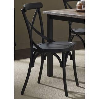 The Gray Barn Santa Rosa Distressed Metal X Back Side Chair Option Heavy