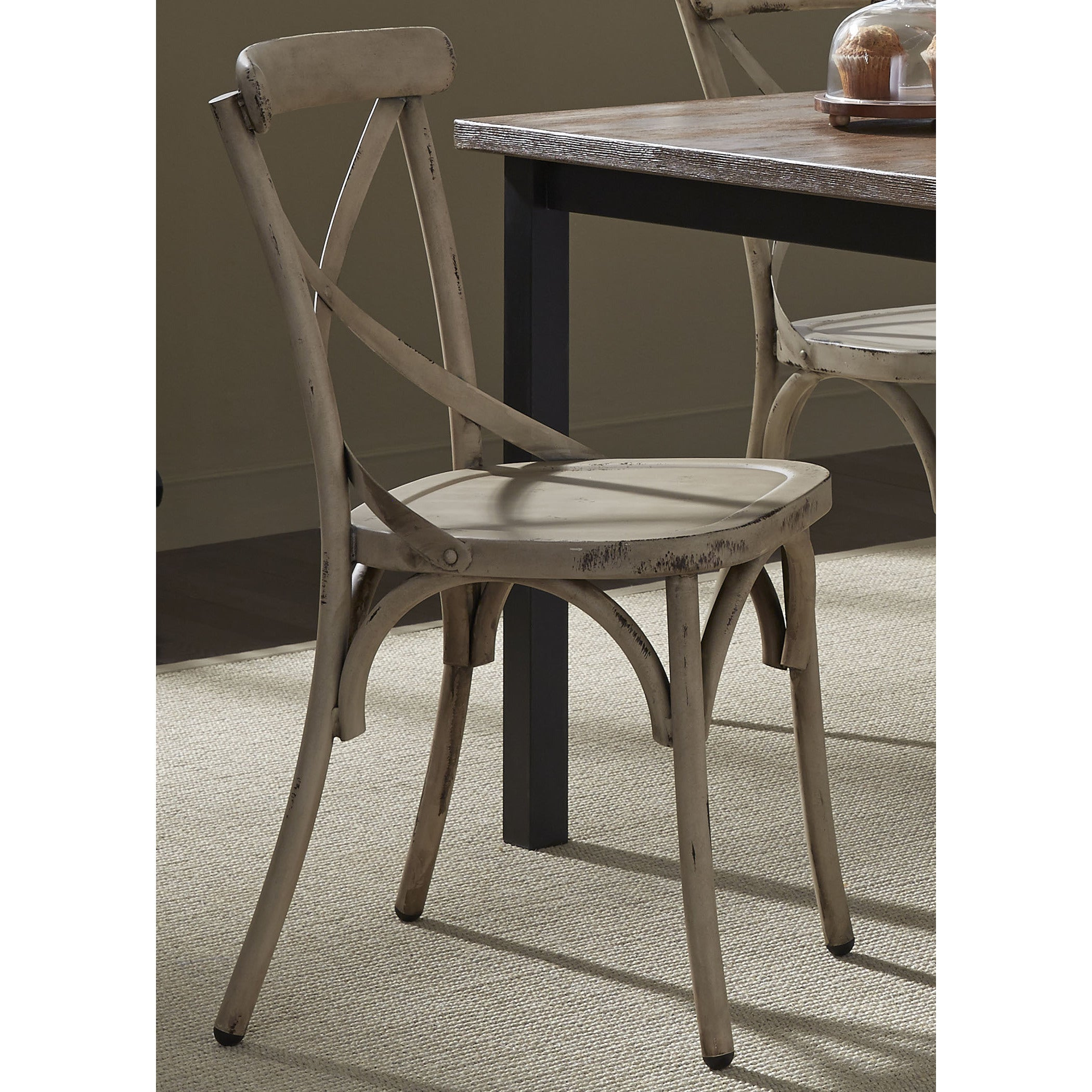 The Gray Barn Santa Rosa Distressed Metal X Back Side Chair Free Shipping On Orders Over 45 10940142
