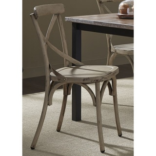 The Gray Barn Santa Rosa Distressed Metal X Back Side Chair