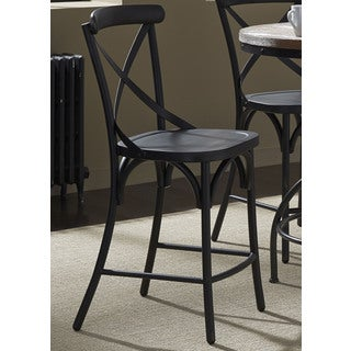 Heavy Distressed Metal X-Back Barstool