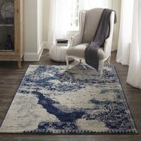 "Momeni Loft Machine Made Polypropylene Blue Area Rug - 9'3"" x 12'6"""