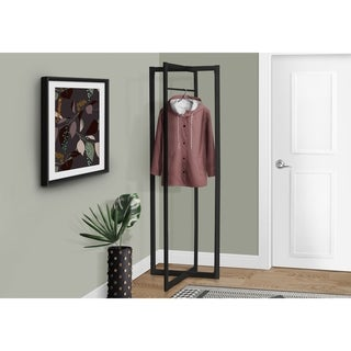 "Black Metal 72""High Coat Rack"