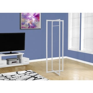 "White Metal 72""High Coat Rack"