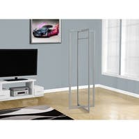 "Silver Metal 72""High Coat Rack"