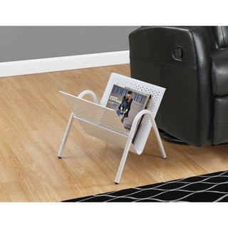 White Metal Magazine Rack