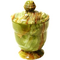 Nature Home Decor Classic Green Onyx Canister of Tasmanian Collection