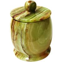 Nature Home Decor Pacific Collection Multi Green Onyx Cotton Jar