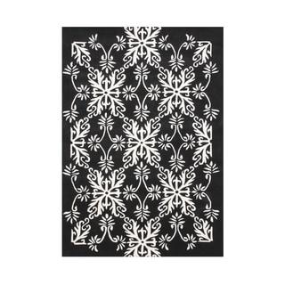 Alliyah Hand Made Floridly Off-White New Zealand Wool Blend Rug 8 feet x 10 feet