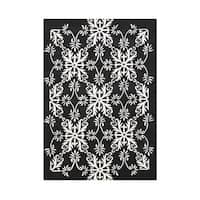 Alliyah Hand Made Black New Zealand Blended Wool Rug (8x10) - 8' x 10'