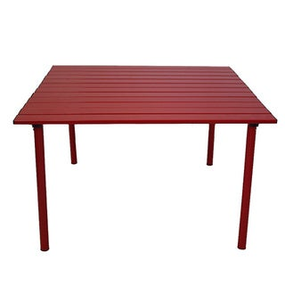Red Color Low Aluminum Portable Table in a Bag