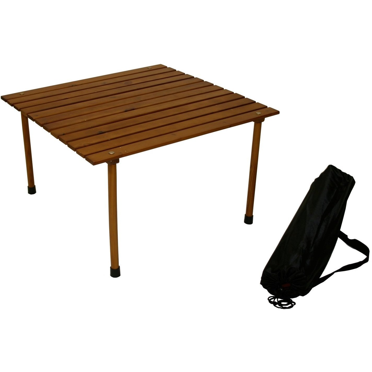 Table in a Bag Wood Portable Table With Bag (Wood Portabl...