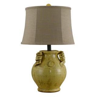 Somette Canary Distressed Urn Table Lamp